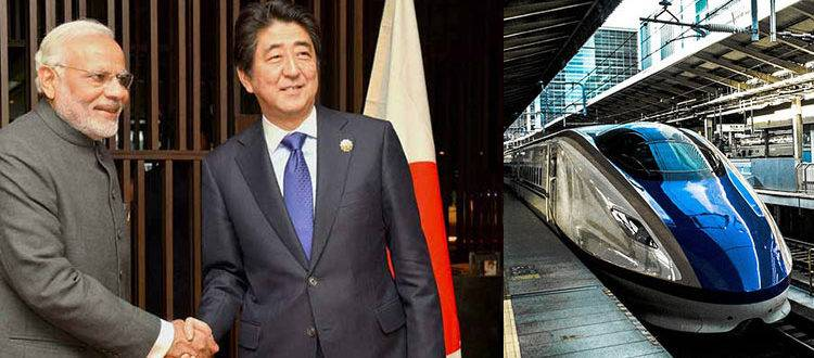 High-Speed-Rail with modi and sinzo abe